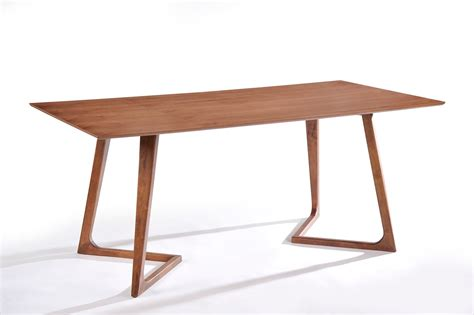 modrest jett mid century walnut dining table