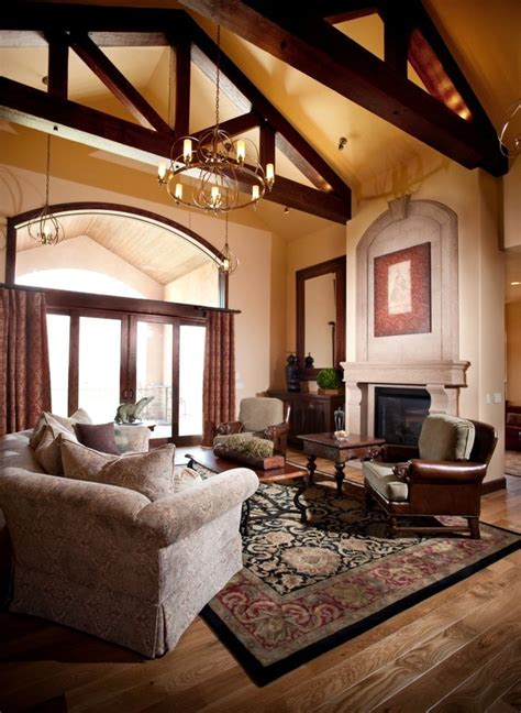vaulted ceiling decorating ideas living room family room ceiling ideas living room rustic with leather