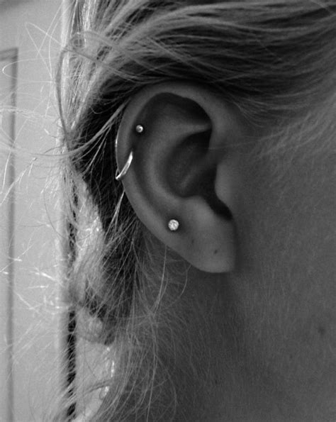 25 best ideas about different ear piercings on