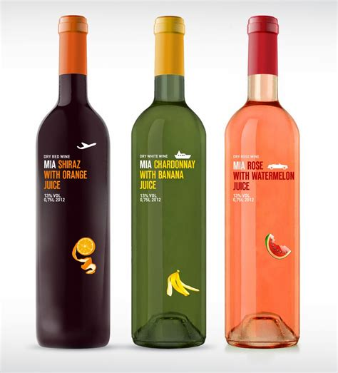 fruit wine on packaging of the world creative