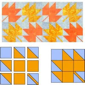 maple leaf quilt block pattern