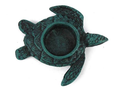 buy seaworn blue cast iron turtle decorative tealight