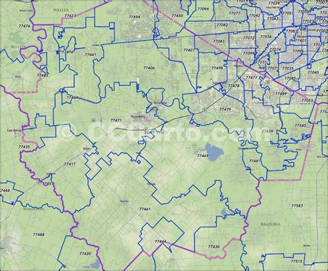 zip code map victoria tx fort bend county zip code boundary map