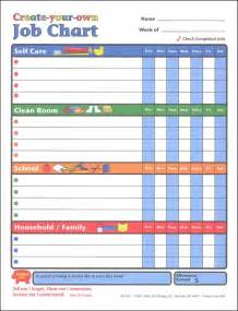 Chore Chart For Kids How To Make A Chore Chart 10 best images of make your own reward chart make your