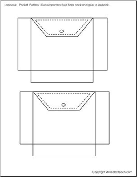 Site Thespruce Shirt Card Envelope Template by Lapbook Template Pocket 2 B W Abcteach