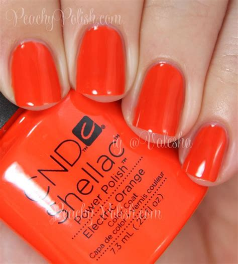 gel polish color speing 2014 cnd electric orange summer 2014 paradise collection