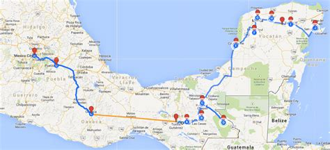map of southern us and mexico mexicojourney through southern mexico and the yucatan