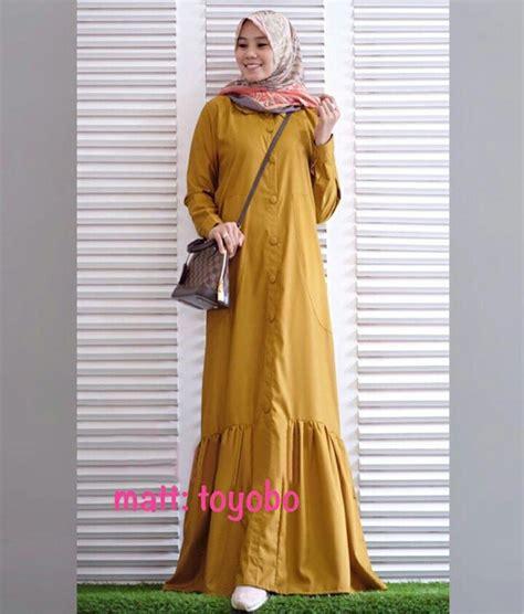 Gamis Triasa Maxi baju gamis modern polos rayna maxi busana muslim remaja