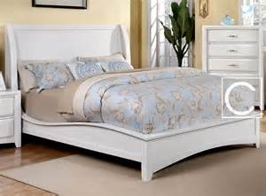 Solid King Size Bed Frame King Size Delphie White Solid Wood Wingback Design Bed Frame