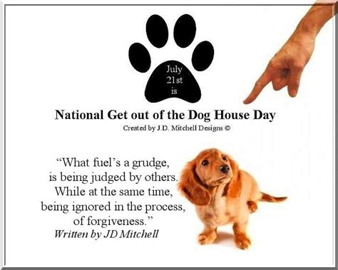 stay out of the dog house pin by robin tate on national days in july pinterest