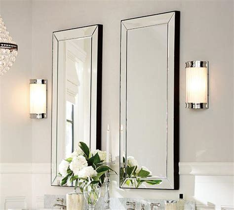 beveled glass bathroom mirrors astor silver mirror