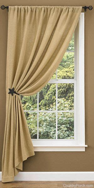 single panel curtain ideas 25 best ideas about burlap window treatments on pinterest