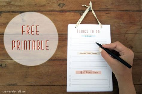 diy to do list template diy to do list notepad with free printable