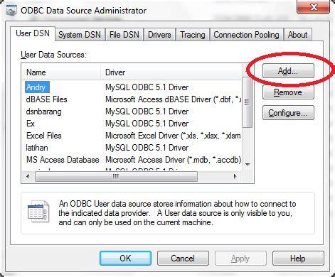 delphi odbc tutorial cara membuat dsn data source name kung delphi