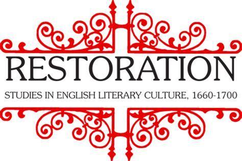 themes in restoration literature restoration journal english department university of