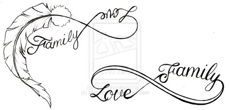 tattoo infinity family love feather love and family infinity symbol tattoo by