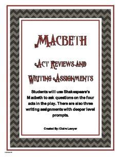 themes in hamlet lesson 15 handout 31 macbeth task cards characters summaries terms major