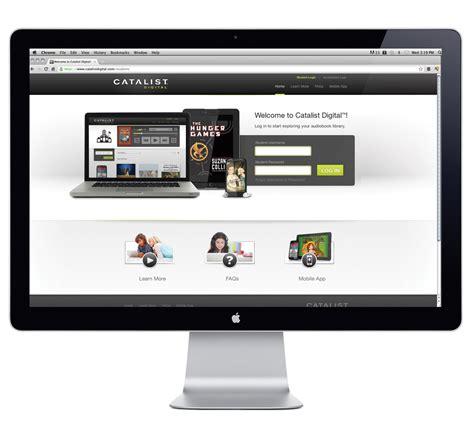 digital design mockup catalist digital website design by go media