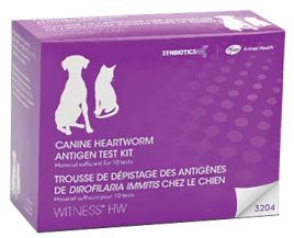 heartworm test for dogs witness hw heartworm canine feline antigen test kit 10 tests
