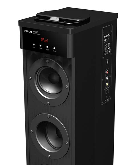 ricco ips34 bluetooth and ipad iphone docking tower speaker
