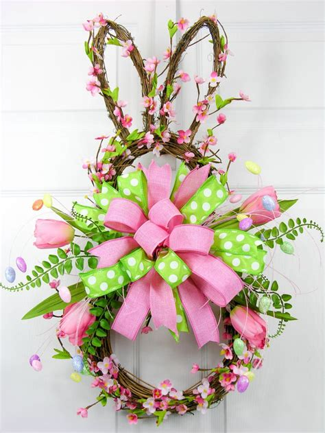 blossom bunny wreath sold out cherry blossoms