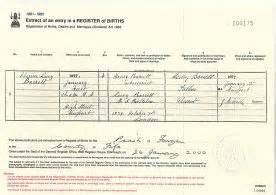 Birth certificate 29 first names surname at birth place of birth birth