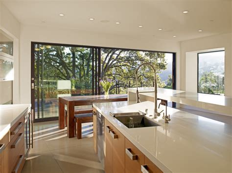 Modern Kitchen Restaurant by Mill Valley Contemporary Kitchen Dining Indoor Outdoor