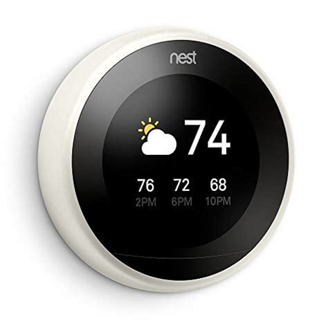 Nest Learning Thermostat, Easy Temperature Control for Every Room in Your House, White (Third