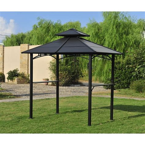 barbeque gazebo sunjoy steel bbq gazebo lowe s canada