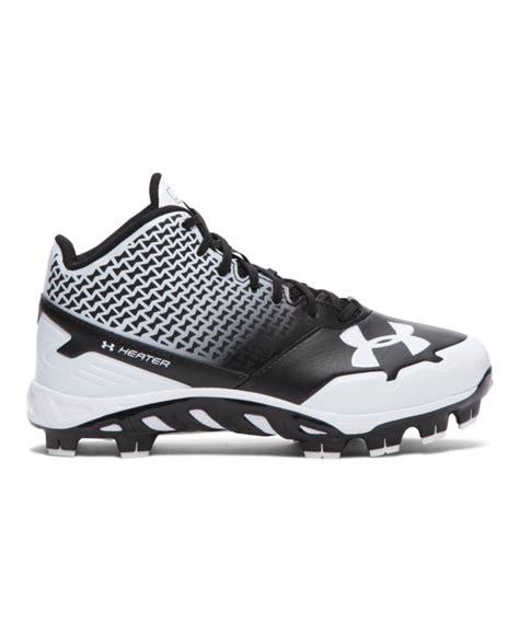 armour baseball shoes boys armour spine heater mid tpu jr baseball