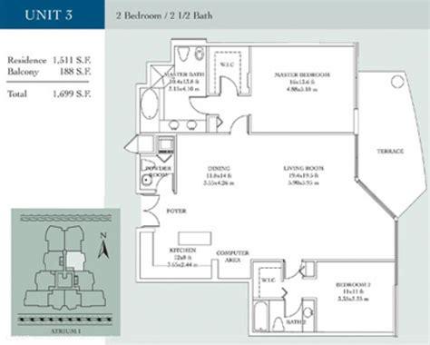 atrium floor plans atrium condominiums in aventura for sale and rent miami