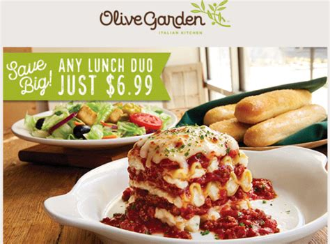 olive garden 6 olive garden lunch duos for just 6 99 my dallas