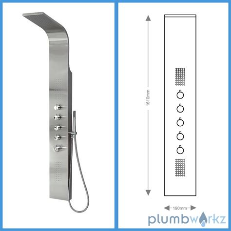 Best Shower Panels by Thermostatic Shower Panel Column Tower With Jets