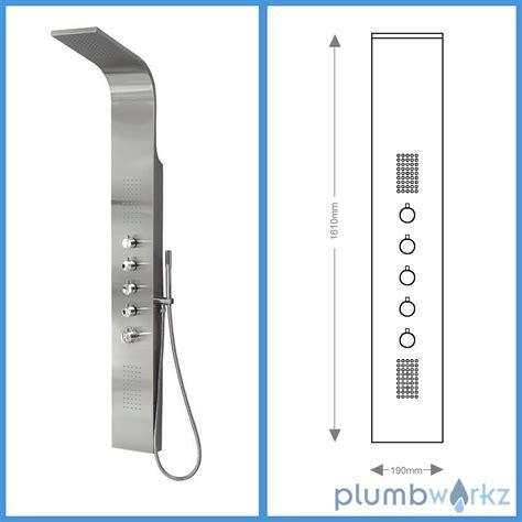 Thermostat Shower Column Set K003 thermostatic shower panel column tower with jets bathroom shower ebay