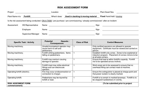 machine risk assessment template 28 images 8 plant