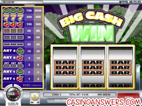 Win Money Slot Machines - big cash win classic slot guide review casino answers