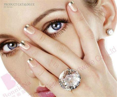 Standar Manicure 3d bling bling berlian tips kuku palsu pra terpaku kuku