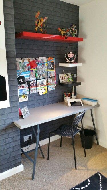 desk for boy 25 best ideas about brick wallpaper on wall