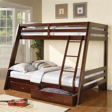 bunk bed canada monarch specialties i 504 bunk bed with storage drawers