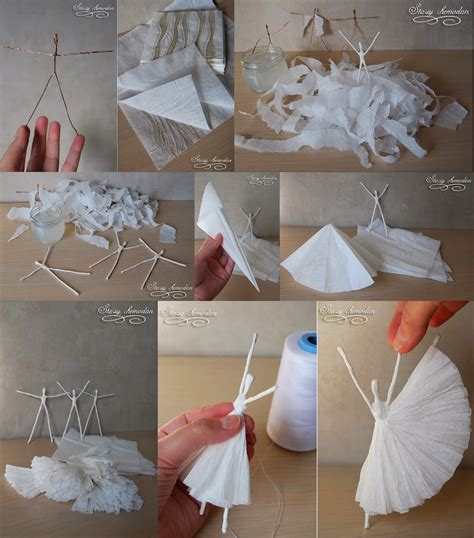 diy paper craft diy paper napkin ballerinas diy craft projects