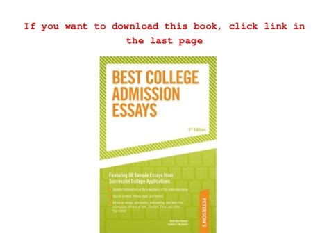 Top College Admission Essays by Pdf Best College Admission Essays Peterson S Best College
