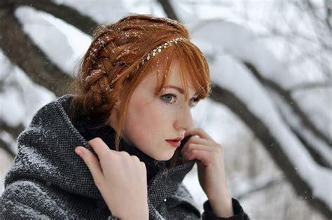 red head teens with corn rolls women redhead alina kovalenko braids women