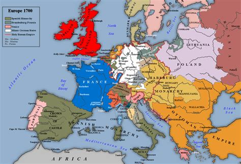 map us during 1700s middle ages how were the borders of the holy