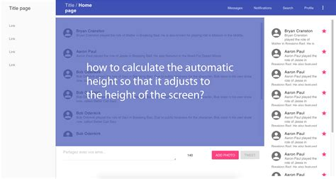 javascript recalculate layout css fix chatbox to bottom or adapt height to content