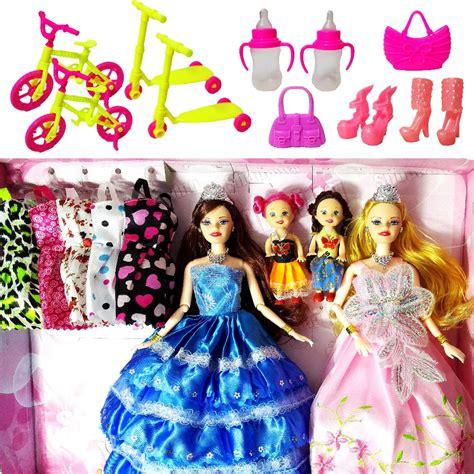 fashion doll set fashion doll dolls set 4 dolls 10 sets of dress