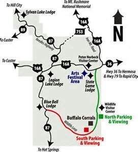 Custer State Park Map by Sd Gfp State Parks Directory Custer State Park
