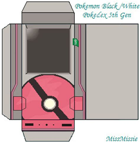 How To Make A Paper Pokedex - 5th pokedex ms paint prop by missysartbook on deviantart