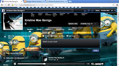 facebook themes minions minion facebook theme