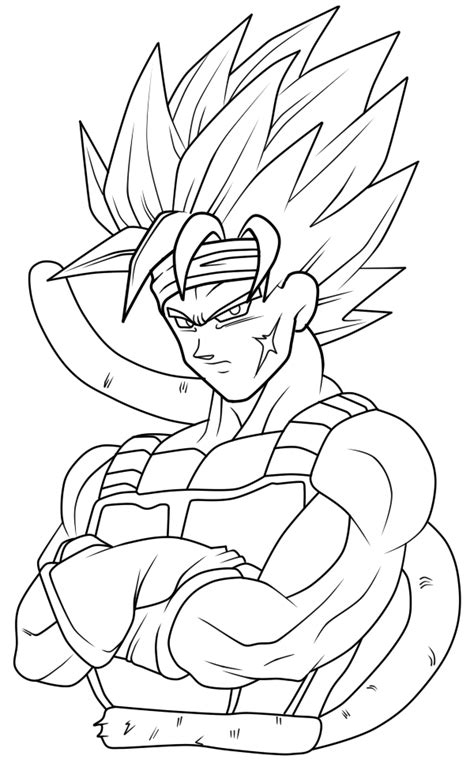 dragon ball z coloring pages bardock super saiyan 2 bardock lines by trebleexe on deviantart
