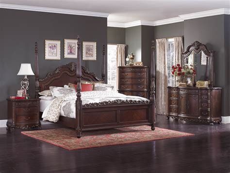 four poster bedroom sets 4 pc homelegance deryn park poster bedroom set usa